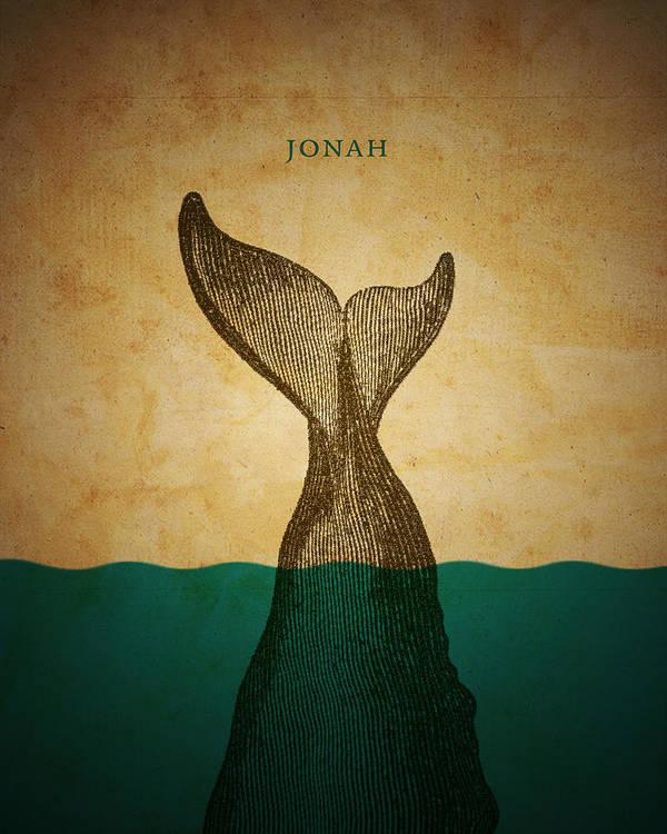 Bible Print featuring the digital art Wordjonah by Jim LePage
