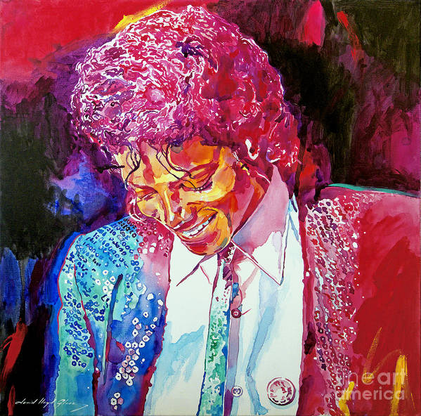Michael Jackson Print featuring the painting Young Michael Jackson by David Lloyd Glover