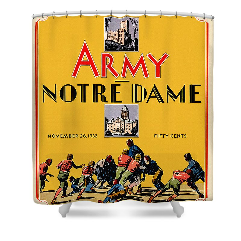 Army Vs Notre Dame 1932 Football Program Shower Curtain For Sale By Big 88 Artworks