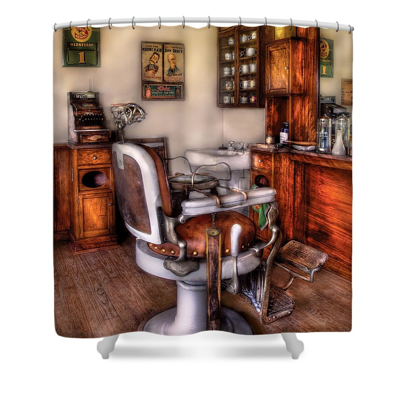 barber shower curtain featuring the photograph barber the barber chair ...