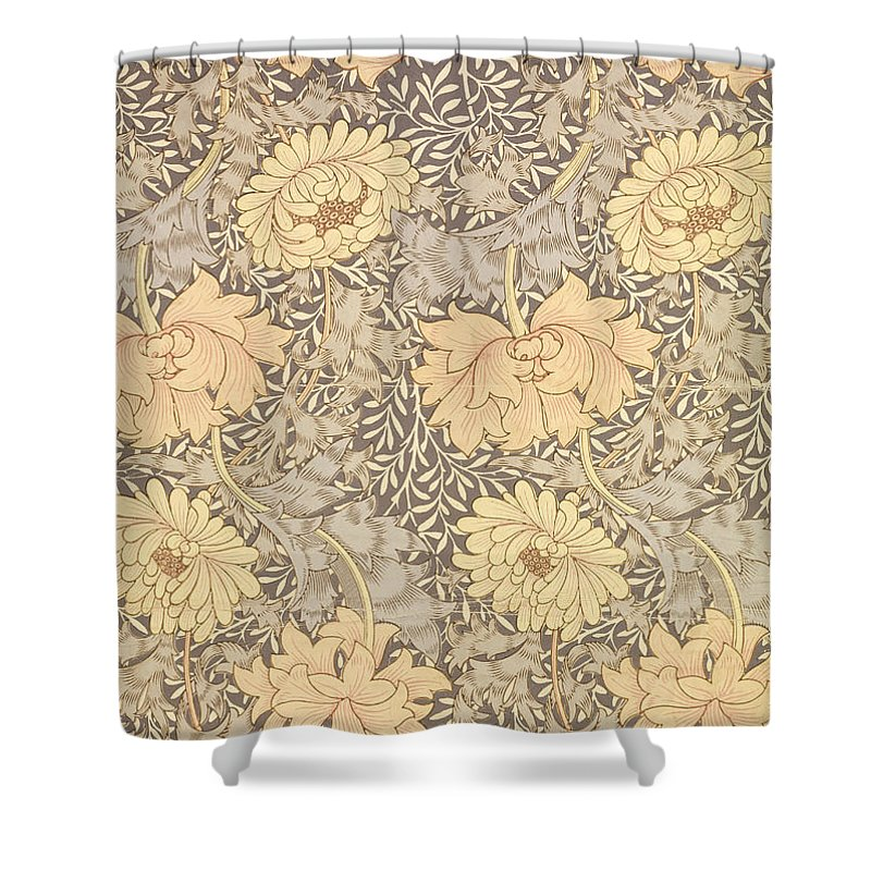 Chrysanthemum Shower Curtain For Sale By William Morris