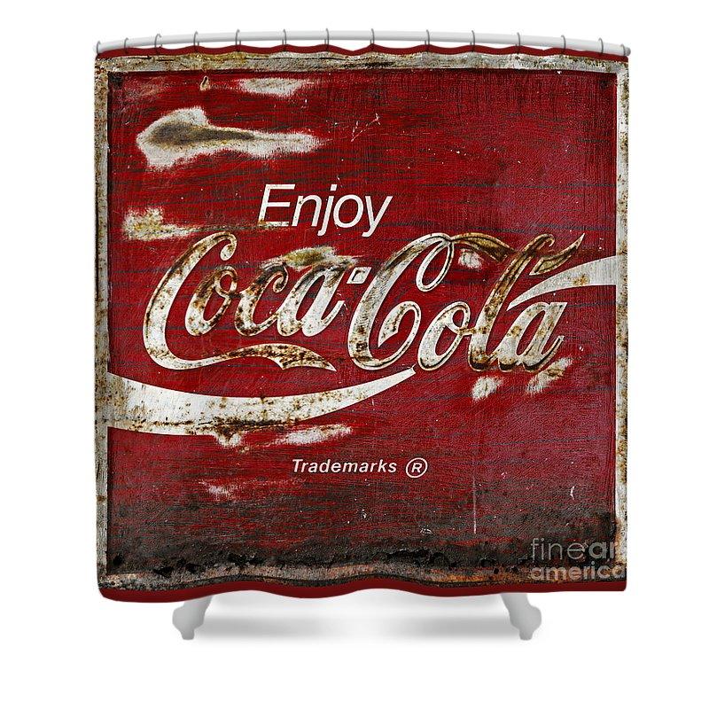 Coca cola shower curtain 2