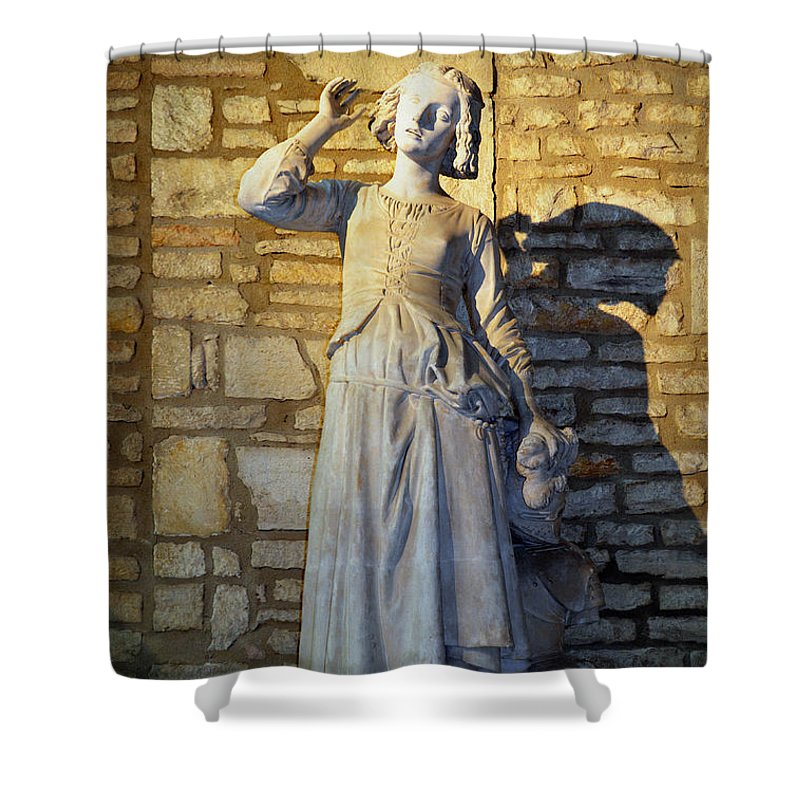 Joan Of Arc Hearing Voices By Francois Rude Shower Curtain ...
