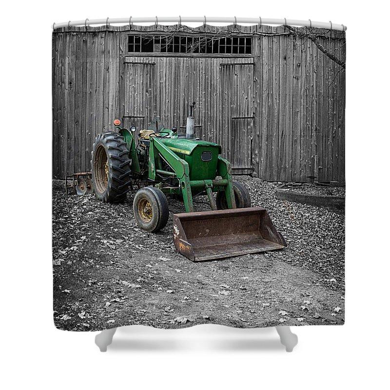 Old John Deere Tractor Shower Curtain For Sale By Edward Fielding