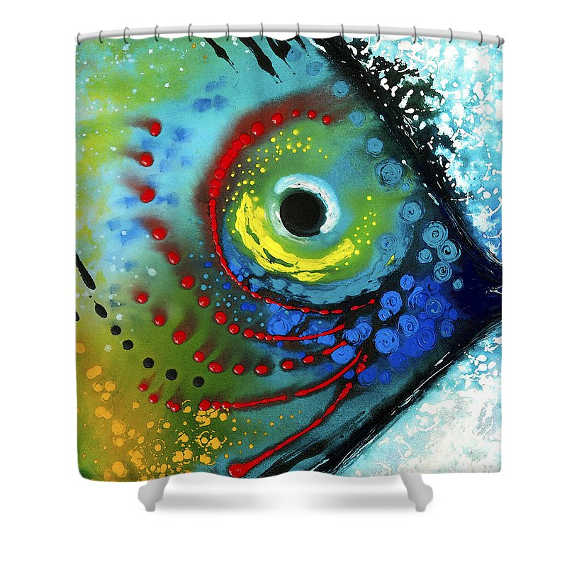 Tropical fish art by sharon cummings shower curtain for for Tropical fish shower curtain