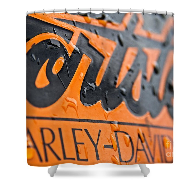 Harley Davidson Logo Shower Curtain For Sale By Stelios Kleanthous