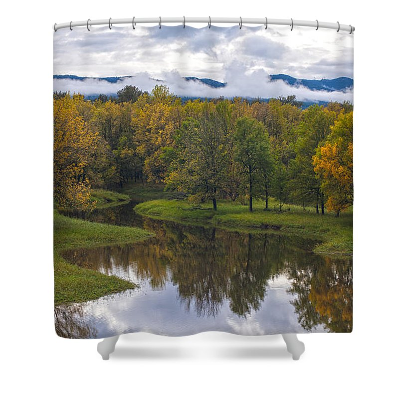 Stream Of Fall Colors Shower Curtain For Sale By Mike Reid