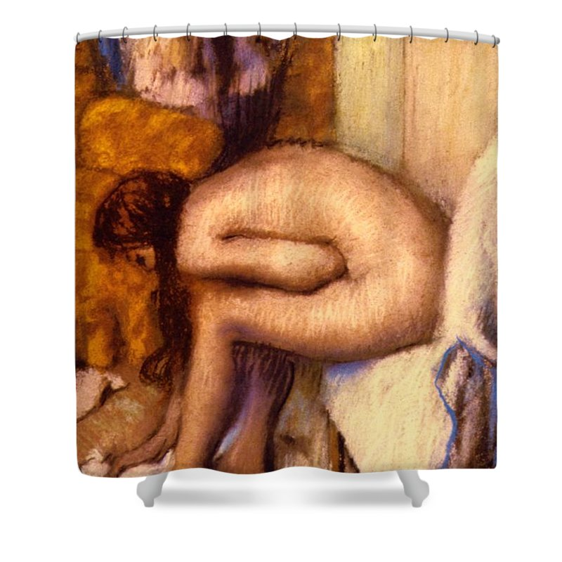 after the bath shower curtain for sale by edgar degas hall bath shower after