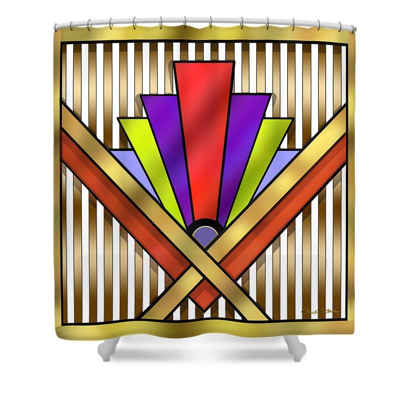 Art Deco 16 Transparent Shower Curtain featuring the digital art Art ...