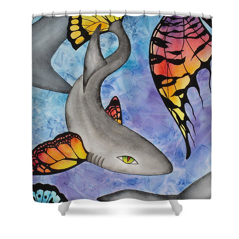 Surreal Shower Curtain featuring the painting Beauty In The Beasts by Lucy Arnold