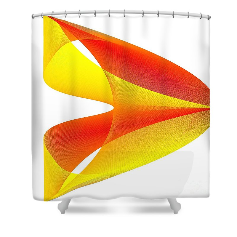 Cusp Shower Curtain featuring the digital art Cusp by Michael Skinner