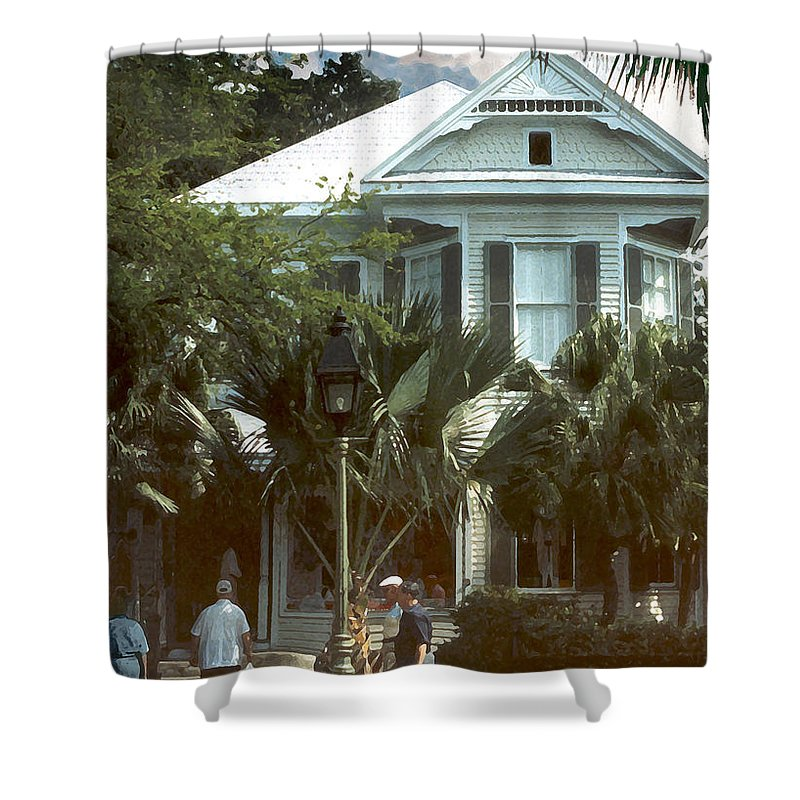 Historic Shower Curtain featuring the photograph Keywest by Steve Karol