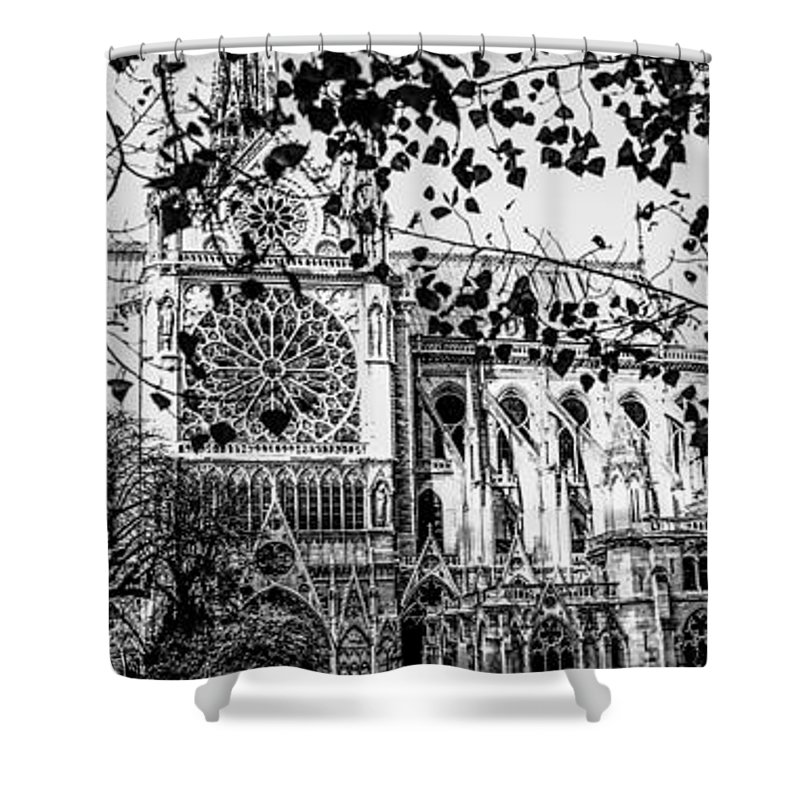 Le Notre Dame De Paris In Panoramic Shower Curtain For Sale By Cyril Jayant
