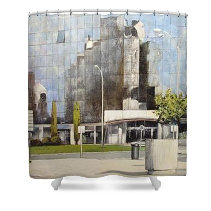 Leon Shower Curtain featuring the painting Leon by Tomas Castano
