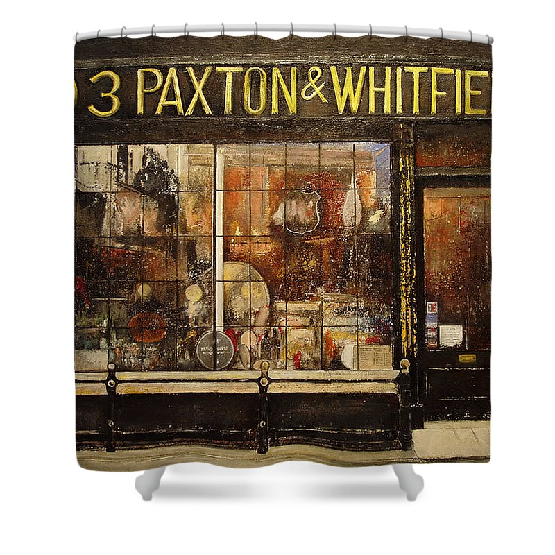 Paxton Shower Curtain featuring the painting Paxton Whitfield .london by Tomas Castano