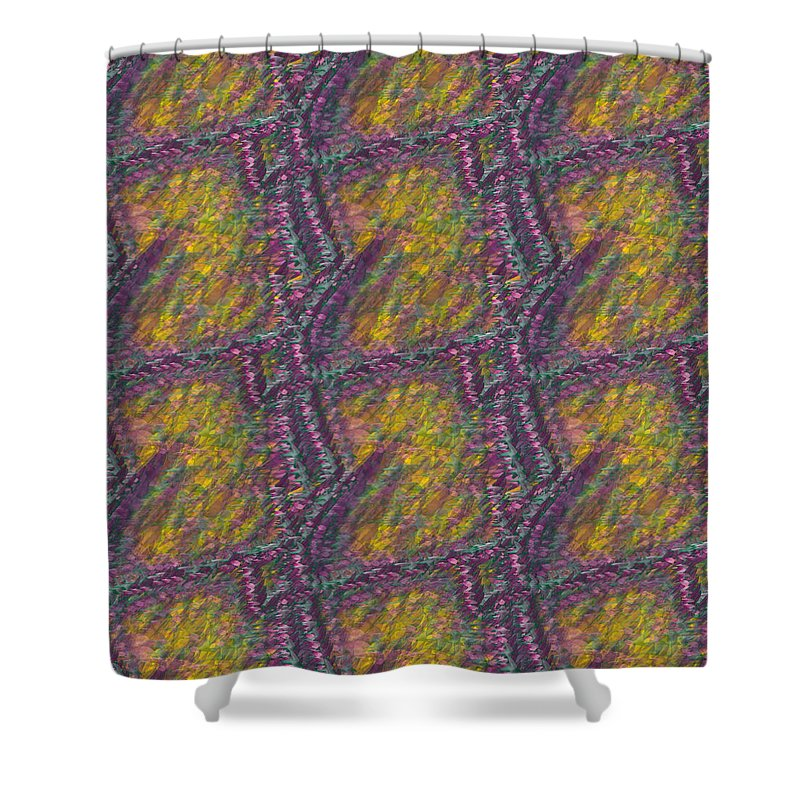 Purple And Yellow Birds Shower Curtain For Sale By Caito