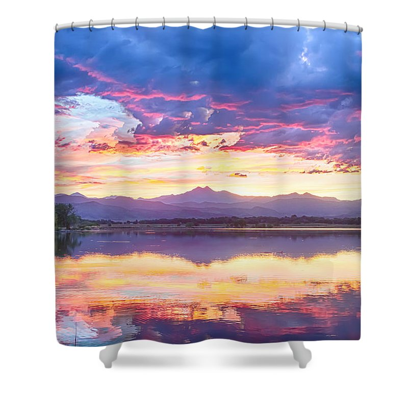 Scenic Colorado Rocky Mountain Sunset View Shower Curtain