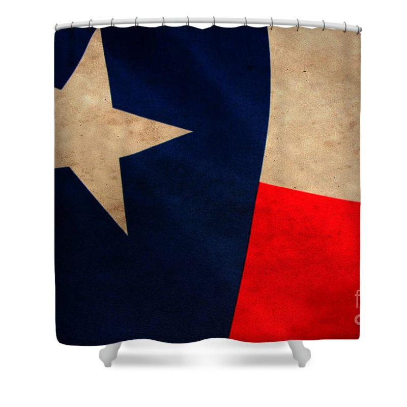The Texas Flag Rustic Shower Curtain For Sale By Amy Steeples