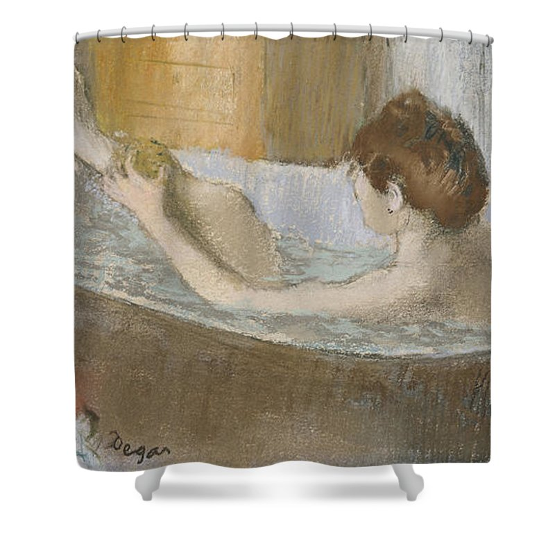Woman In Her Bath Shower Curtain For Sale By Edgar Degas
