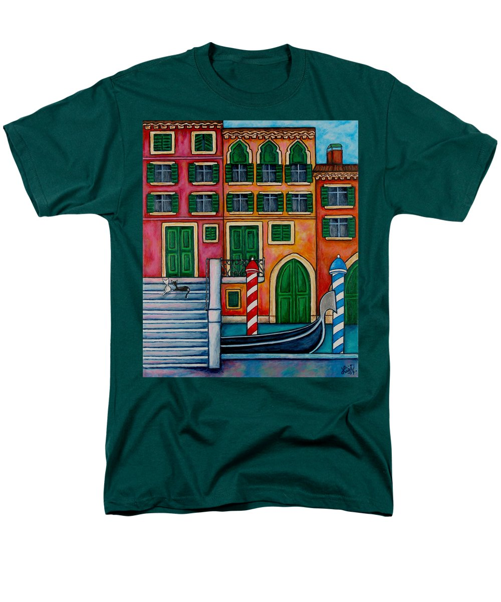 Venice Men's T-Shirt (Regular Fit) featuring the painting Colours Of Venice by Lisa Lorenz