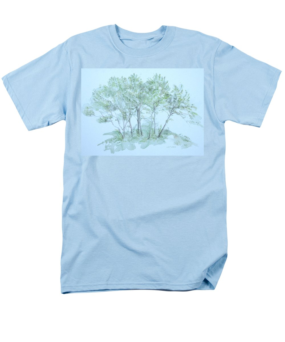 Trees Men's T-Shirt (Regular Fit) featuring the painting Outer Banks by Leah Tomaino