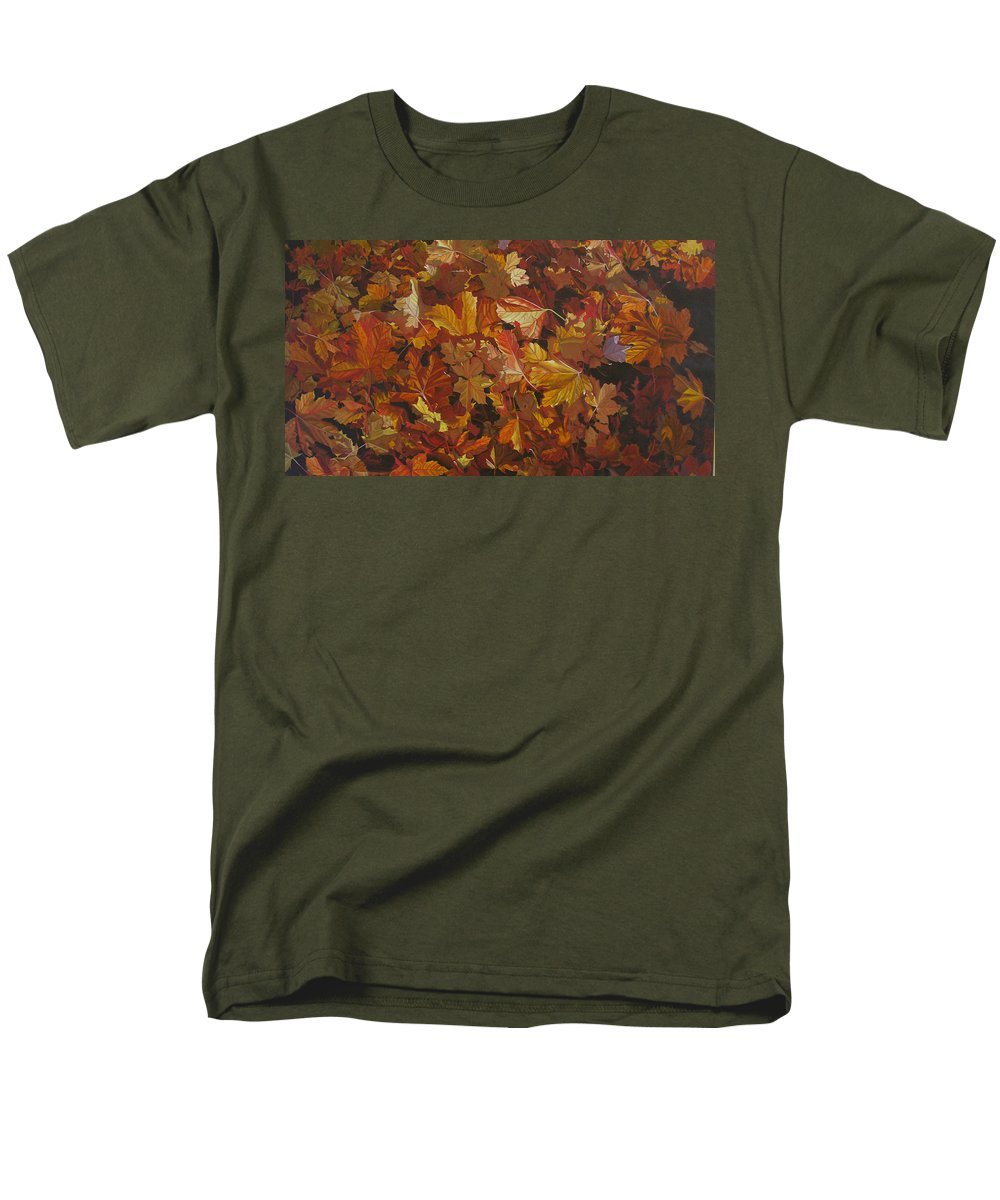 Fall Men's T-Shirt (Regular Fit) featuring the painting Last Fall In Monroe by Thu Nguyen