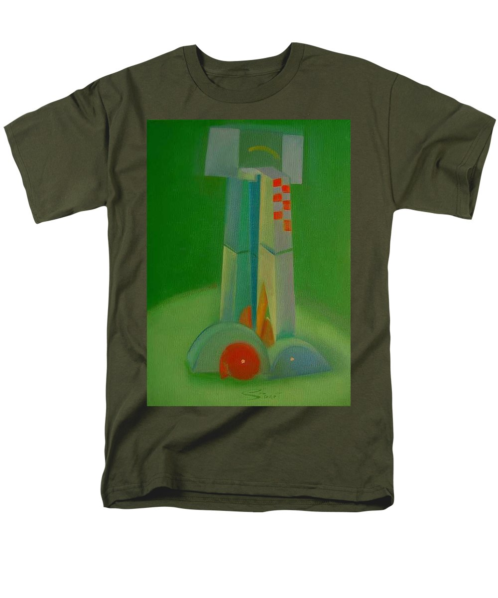Cubist View Of Figure Men's T-Shirt (Regular Fit) featuring the painting Survivors by Charles Stuart
