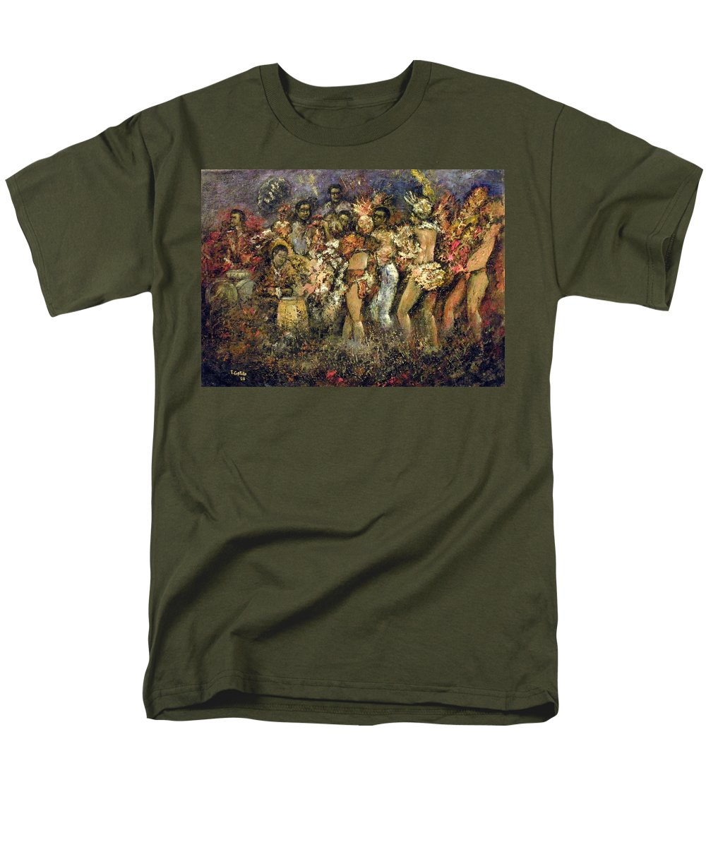 Tropicana Men's T-Shirt (Regular Fit) featuring the painting Tropicana Havana by Tomas Castano