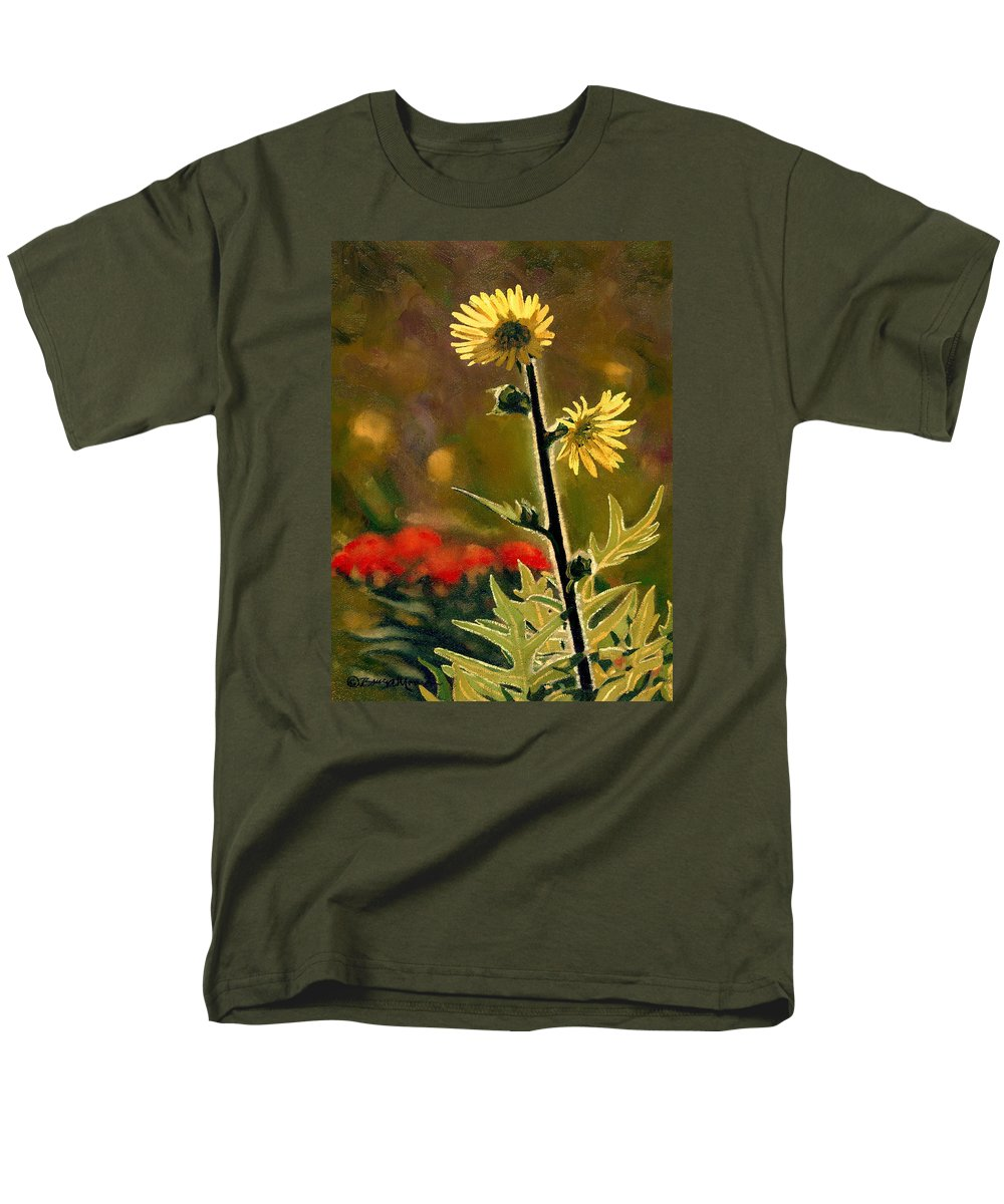 Prairie Flowers Men's T-Shirt (Regular Fit) featuring the painting July Afternoon-compass Plant by Bruce Morrison