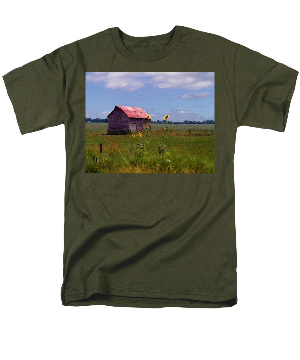 Lanscape Men's T-Shirt (Regular Fit) featuring the photograph Kansas Landscape by Steve Karol