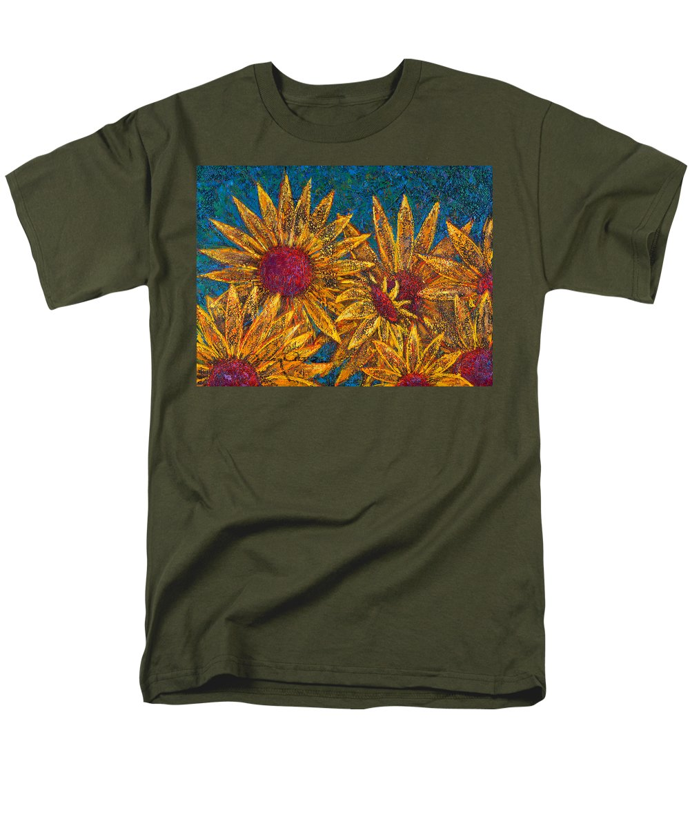 Flowers Men's T-Shirt (Regular Fit) featuring the painting Positivity by Oscar Ortiz