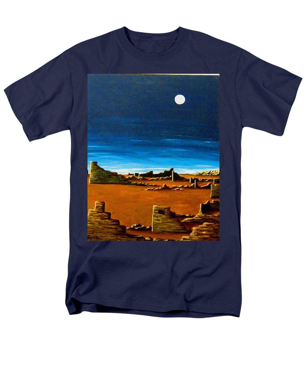 Anasazi Men's T-Shirt (Regular Fit) featuring the painting Timeless by Diana Dearen