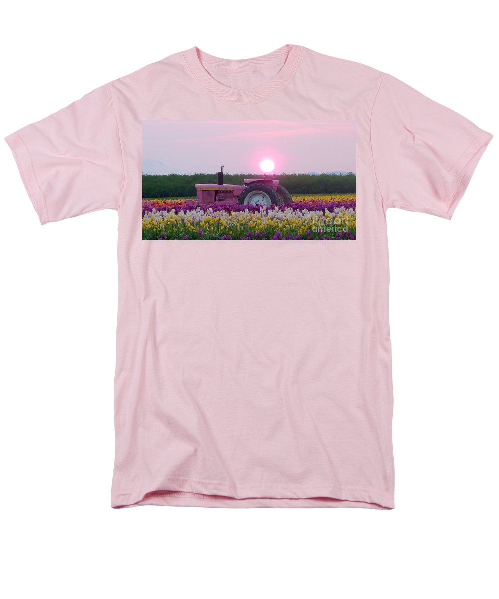 Sunrise Pink Greets John Deere Tractor T Shirt For Sale By