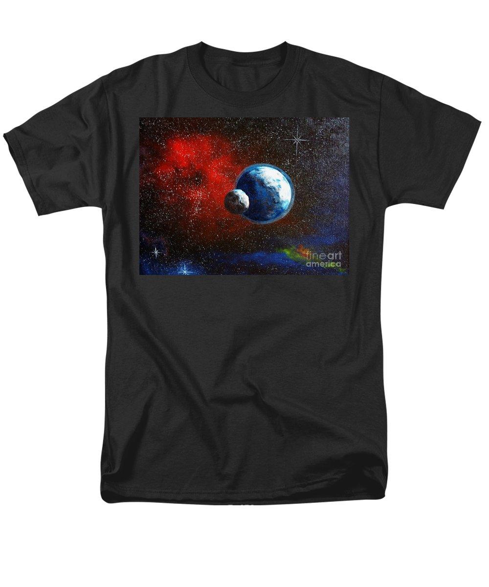 Astro Men's T-Shirt (Regular Fit) featuring the painting Broken Moon by Murphy Elliott