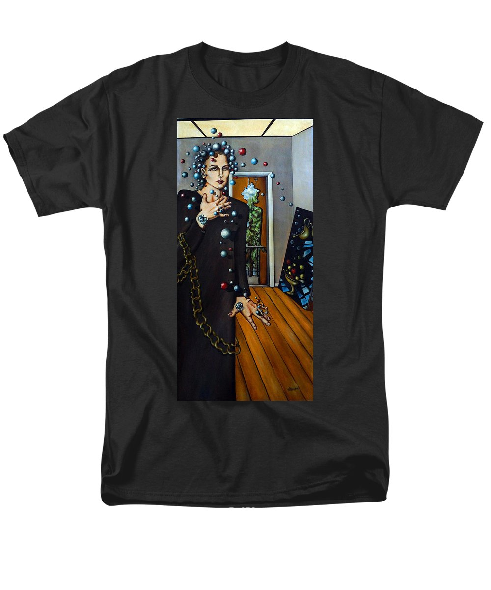 Surreal Men's T-Shirt (Regular Fit) featuring the painting Existential Thought by Valerie Vescovi