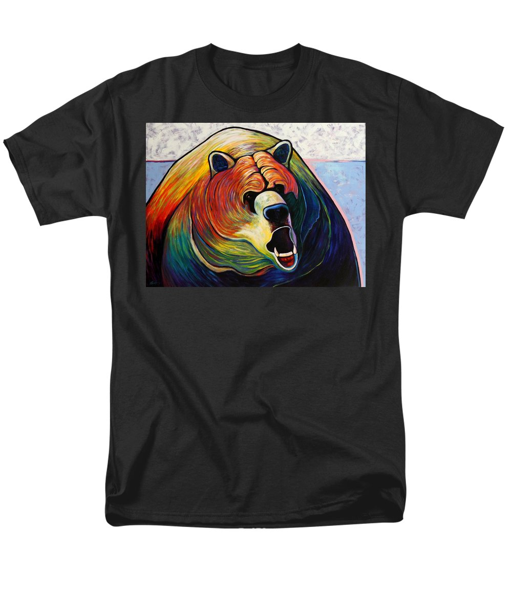 Wildlife Men's T-Shirt (Regular Fit) featuring the painting He Who Greets With Fire by Joe Triano