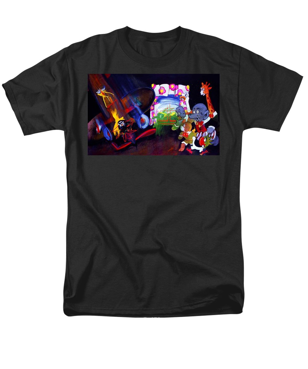 Cartoon Men's T-Shirt (Regular Fit) featuring the painting Watch With Mother by Charles Stuart