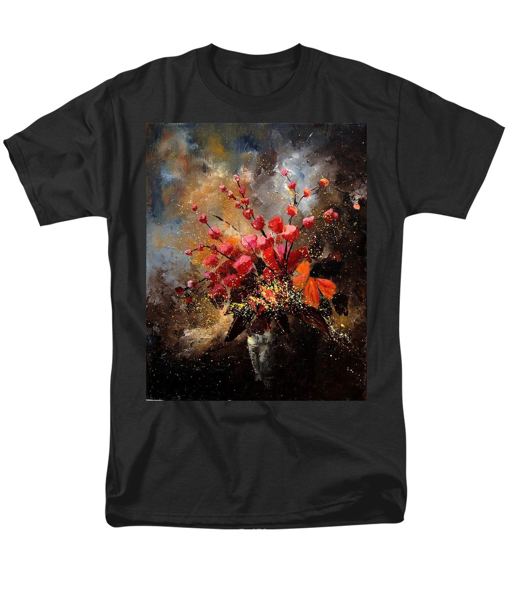 Poppies Men's T-Shirt (Regular Fit) featuring the painting Bunch 1207 by Pol Ledent