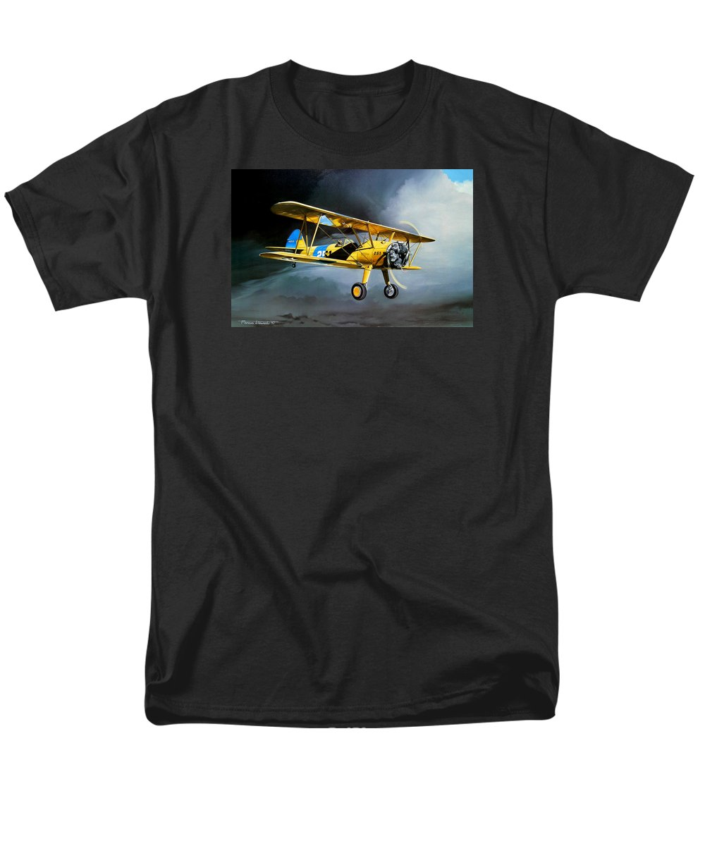 Military Men's T-Shirt (Regular Fit) featuring the painting Here Comes The Sun by Marc Stewart