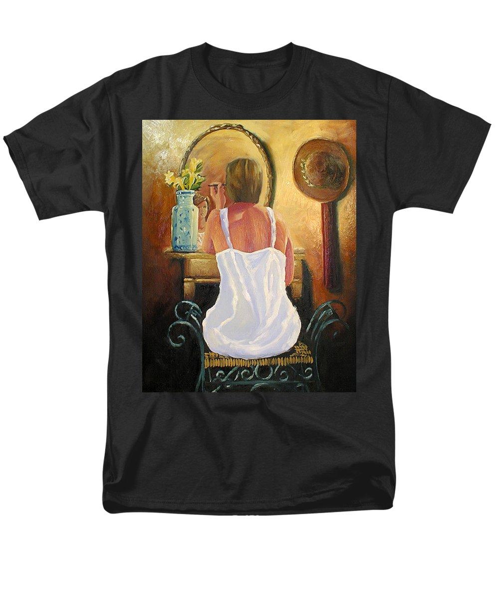 People Men's T-Shirt (Regular Fit) featuring the painting La Coqueta by Arturo Vilmenay