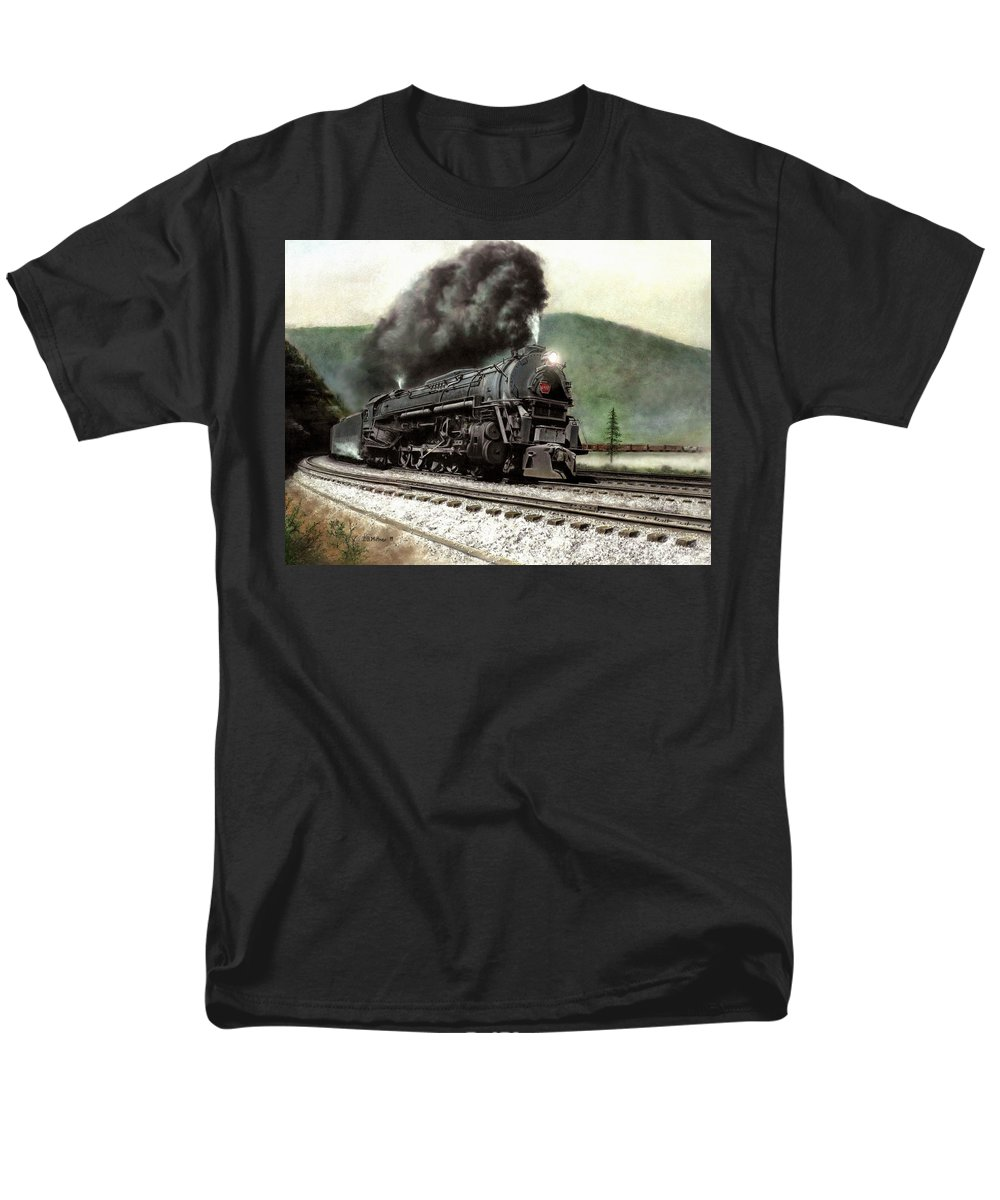 Men's T-Shirt (Regular Fit) featuring the painting Power On The Curve by David Mittner