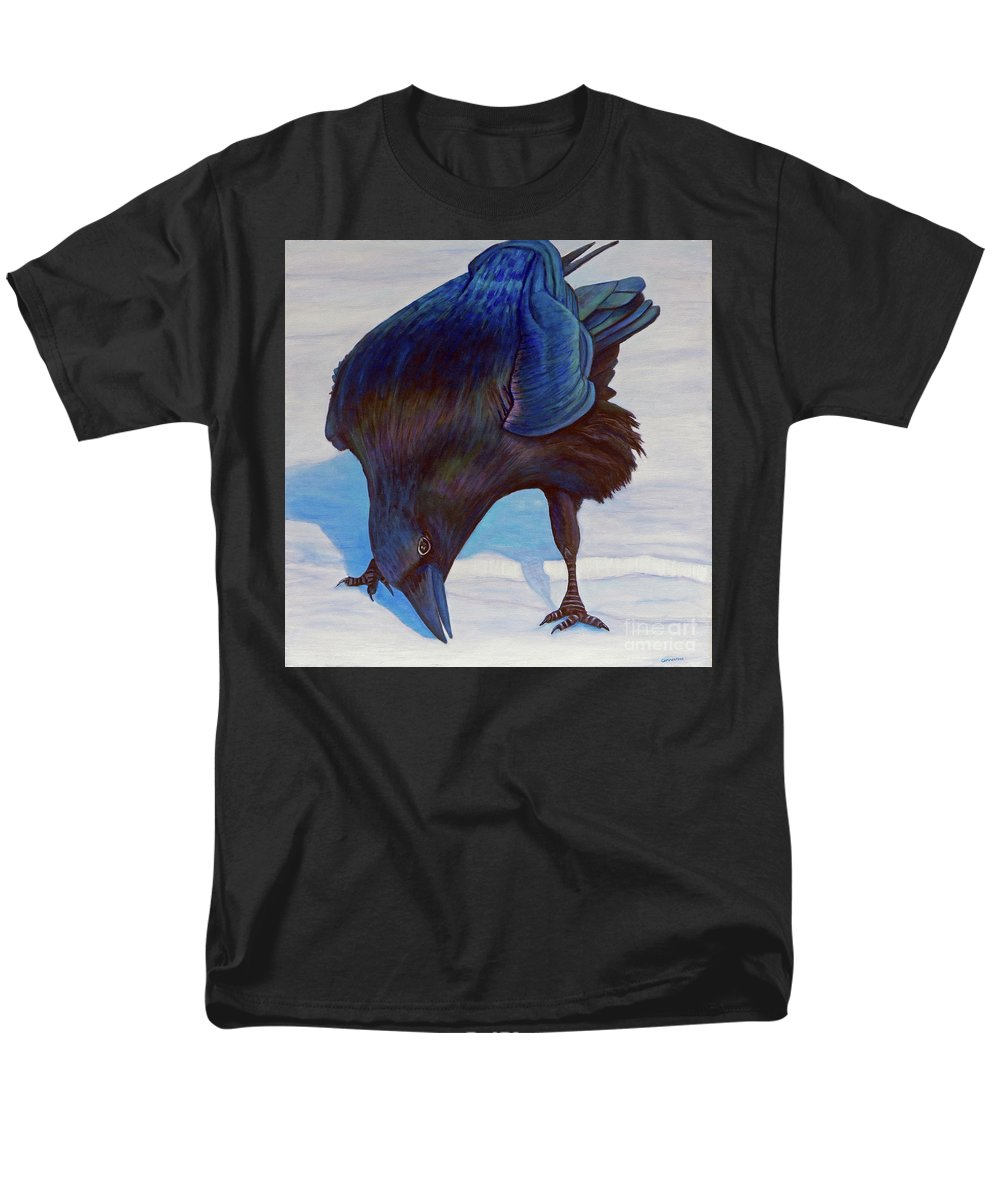 Raven Men's T-Shirt (Regular Fit) featuring the painting Que Pasa by Brian Commerford