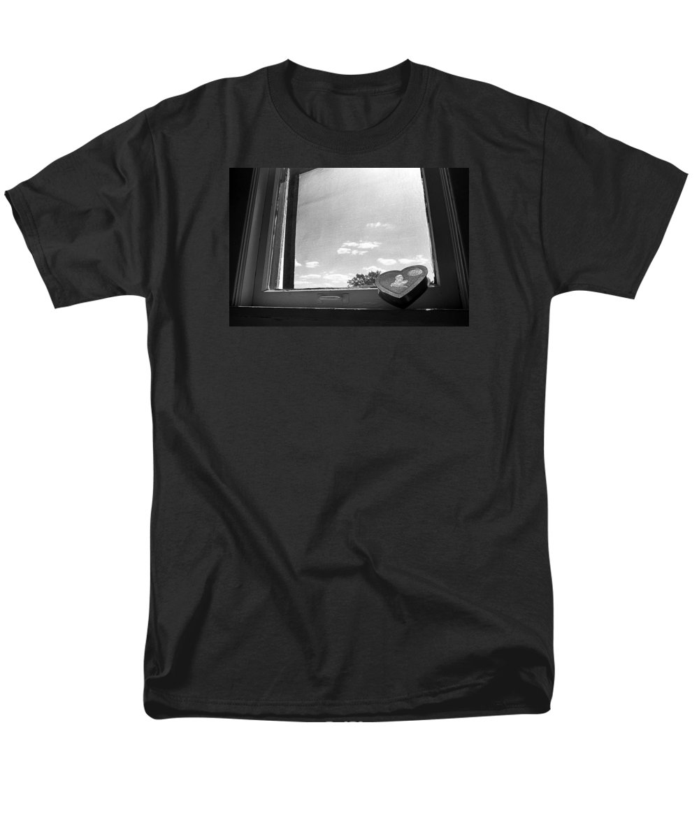 Window Men's T-Shirt (Regular Fit) featuring the photograph What Remains by Ted M Tubbs
