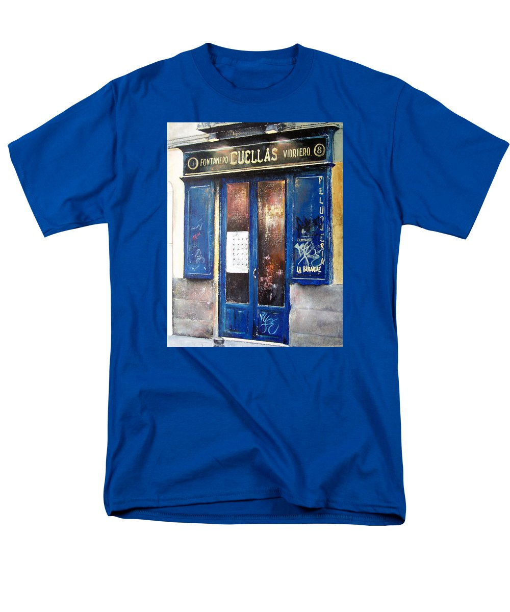 Old Men's T-Shirt (Regular Fit) featuring the painting Old Plumbing-madrid by Tomas Castano
