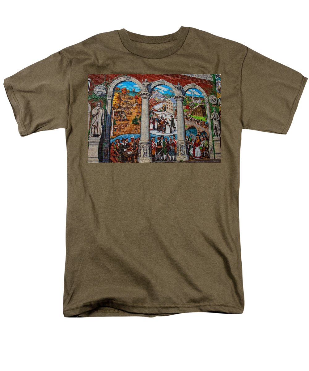 Painted history 2 t shirt for sale by joann vitali for Murals on the t shirt