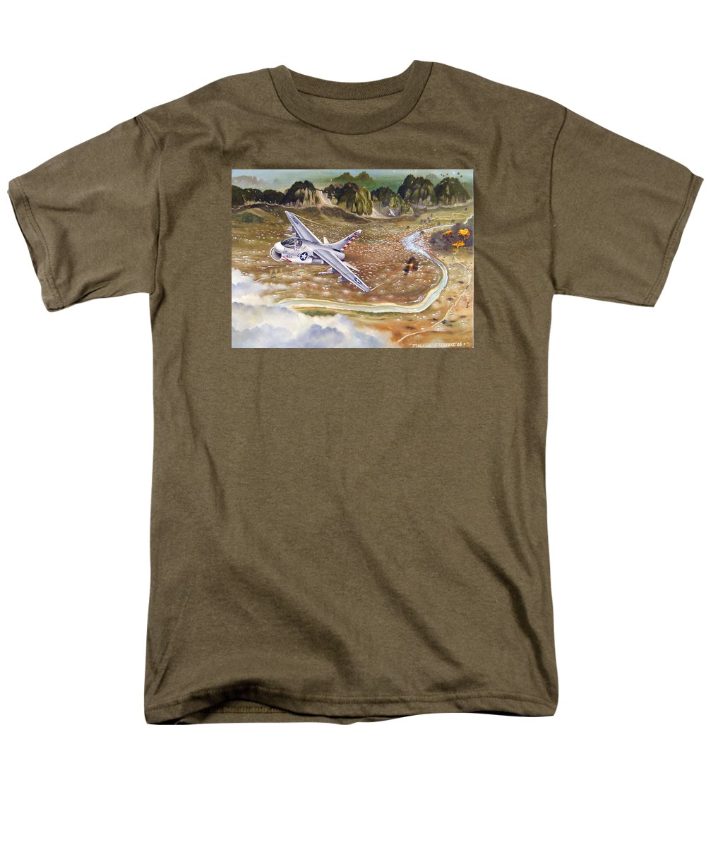 Aviation Men's T-Shirt (Regular Fit) featuring the painting Mu Gia Mayhem by Marc Stewart