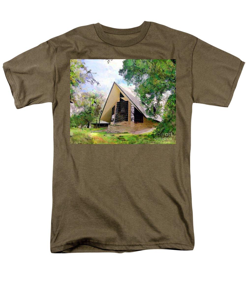 Praying Hands Men's T-Shirt (Regular Fit) featuring the digital art Praying Hands by John Robert Beck