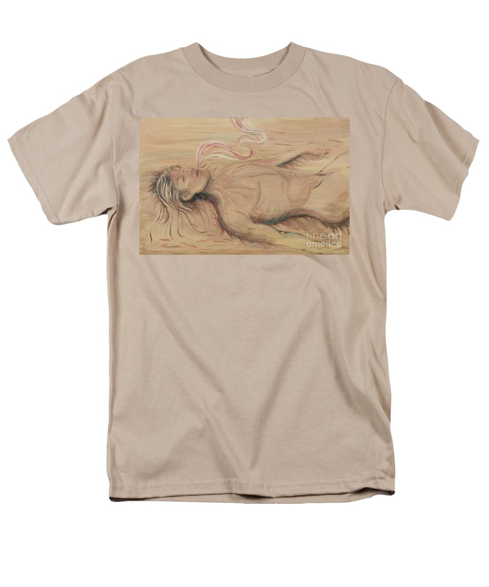 Adam Men's T-Shirt (Regular Fit) featuring the painting Adam And The Breath Of God by Nadine Rippelmeyer
