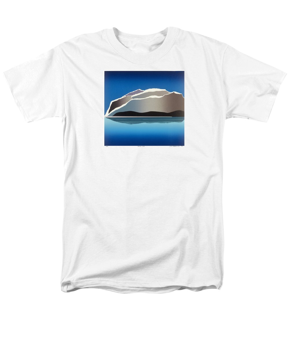 Landscape Men's T-Shirt (Regular Fit) featuring the mixed media Glaciers by Jarle Rosseland