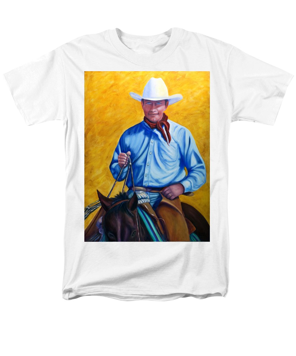 Cowboy Men's T-Shirt (Regular Fit) featuring the painting Happy Trails by Shannon Grissom